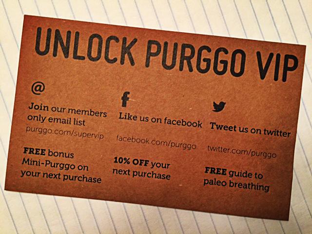 purggo thankyou card